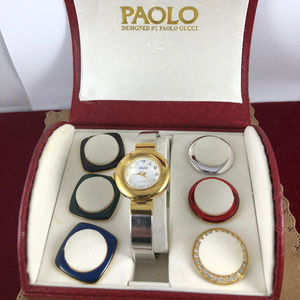 Paolo Gucci Vintage Watch set with Screw on Bezels